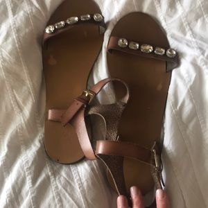Jcrew crystal sandals